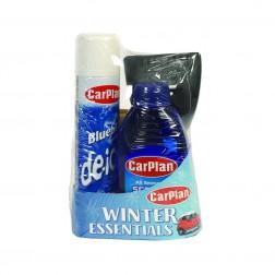 La confezione regalo Carplan Winter Essentials (WGP100) contiene De-Icer 300ml Screenwash 500ml e Ice Scraper