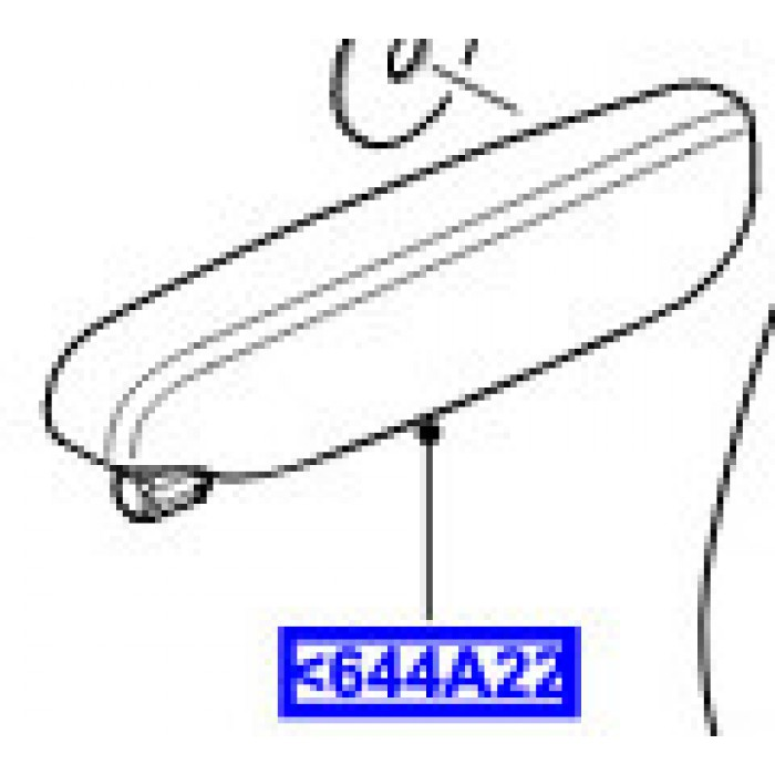 LR055816   Appoggiabraccia Sedile sinistro