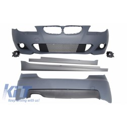 Body Kit suitable for BMW 5 Series E60 (2003-2010) M-Technik Design Fog Lights Side Skirts and without PDC