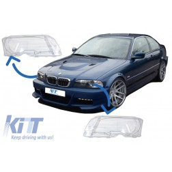 Headlights Glases suitable for BMW E46 Coupe (1998-2003)