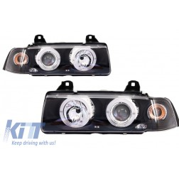 Angel Eyes Headlights suitable for BMW 3 Series E36 2D Coupe/Cabrio (1992-1997)