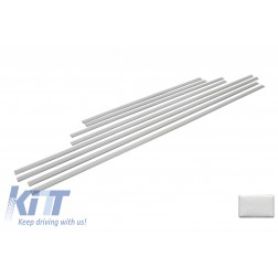 Add On Door Moldings Strips Brushed Aluminum suitable for MERCEDES G-class W463 (1989-2015)