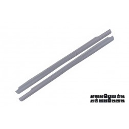 Side Skirts suitable for MERCEDES S-Class W221 (2005-2011) S65 Design Short Version