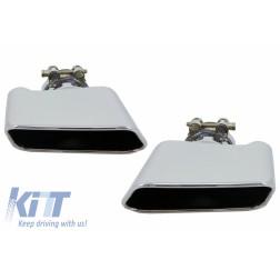 Exhaust Muffler Tips For BMW 5er Sedan Touring F10 F11 F18 550i V8 LCI Square