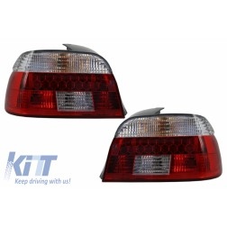 DECTANE LED Taillights suitable for BMW 5 Series E39 1995-2003 Red/Crystal Clear