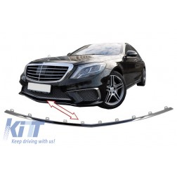 Front Bumper Middle Spoiler Lip suitable for MERCEDES Benz W222 S-Class (2013-2017) S65 Design