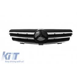 Front Grill suitable for MERCEDES CLK W209 (2002-2009) Sport CL Look 3 Bars