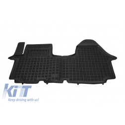 Floor mat black fits to/ NISSAN Primastar I; OPEL Vivaro I; suitable for RENAULT Trafic II 2001-2014