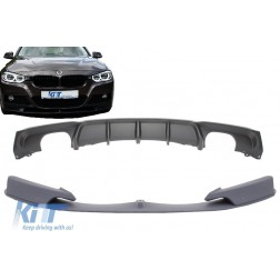Front Bumper Spoiler with Rear Diffuser suitable for BMW 3 Series F30 F31 (2011-up) Limo Touring M Performance Package