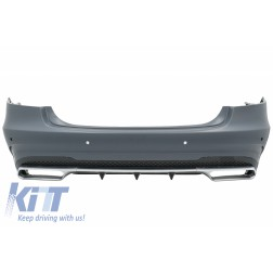 Rear Bumper suitable for MERCEDES E-Class W212 Facelift (2013-2016) E63 Design