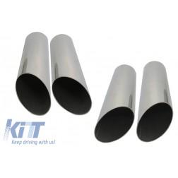 Exhaust Muffler Tips Shiny Chrome suitable for MERCEDES G-Class W463 G500 G55 G63 G65 (1998-up)