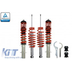 Height Adjustable Sport Coilover Suspension Kit Red Line suitable for BMW 3 Series E46 (1998-2004)
