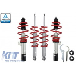 Height Adjustable Sport Coilover RED LINE Suspension Kit  suitable for VW GOLF 5 / GOLF 6 / AUDI A3 8P / Seat Leon 1P