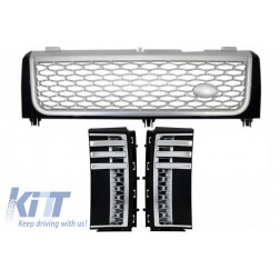 Central Grille Side Vents  suitable for Land ROVER Range ROVER Vogue III (L322) (2002-2005) Black-Silver Autobiography Supercharged Edition