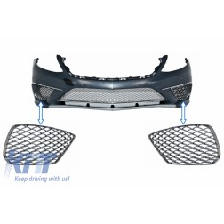 Front Bumper Chrome Side Grilles suitable for MERCEDES S-Class W222 (2013-2017) S65 Design