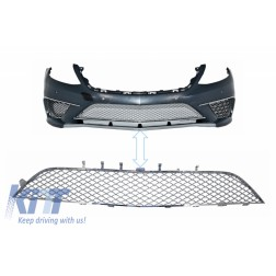 Front Bumper Chrome Central Lower Grille suitable for MERCEDES S-Class W222 (2013-2017) S65 Design