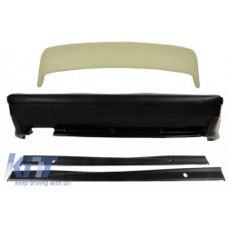 Rear Bumper with Side Skirts Trunk Spoiler Top Wing LTW Design suitable for BMW E36 3 Series (1992-1998) M3 Design