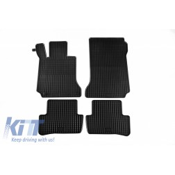 Floor Mat Rubber suitable for MERCEDES C-Klasse (W204) 03/2007-02/2014, E-Klasse Coupe/Cabrio 05/2009-03/2017 (C207), T-Modell (S204) 11/2007-08/2014