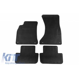 Floor Mat Rubber suitable for AUDI A4 11/2007-09/2015, A4 Avant 05/2008-09/2015, A4 Allroad 2009-05/2016, A5 Sportback 09/2009-12/2016