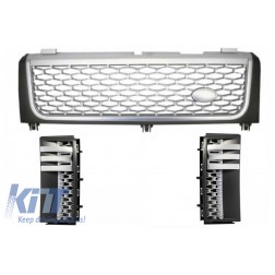 Central Grille and Side Vents suitable for Land ROVER Range ROVER Vogue III (L322) (2002-2005) Silver Autobiography Supercharged Edition