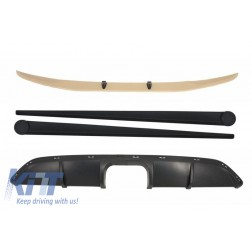 Front Bumper Spoiler Lip with Air Diffuser suitable for SMART ForTwo 451 (2007-2014) and Side Skirts Add-On B Design