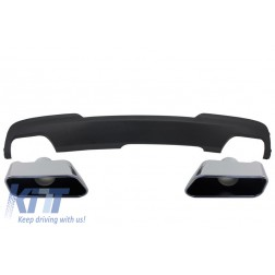 Double Outlet Air Diffuser with Exhaust Muffler Tips Sport M-Tech 550i Design suitable for BMW F10 F11 2011-2017
