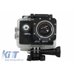 Xblitz Action Camera 4k Full HD 1920x1080P, 2 Inch Screen, 170 Degrees Lens, With Wi-Fi, Waterproof, Black
