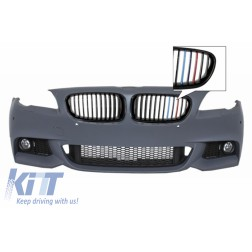 Front Bumper with Fog Lights M-Technik Design Central Grilles M-Power 3 Colors suitable for BMW F10 F11 5 Series 2011+
