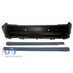 Rear Bumper With Side Skirts suitable for MERCEDES C Class W204 (2007-2012) C63 Design