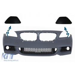 SET SRA Bumper Headlights Washing System Covers suitable for BMW 5er F10 F11 11+ (Right&Left)