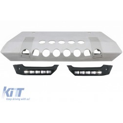 Body Kit Front Bumper Spoiler LED DRL Skid Plate Off Road suitable for MERCEDES G-Class W463 4x4 Design 1989-2017