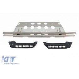Front Bumper Spoiler LED DRL Extension Rear Skid Plate Under Run suitable for MERCEDES Benz W463 G-Class 89-17