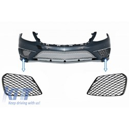 Front Bumper Side Grilles suitable for MERCEDES Benz S-Class W222 S63 Design Piano Black
