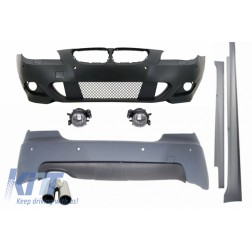 Body Kit M-Technik suitable for BMW E60 5 Series 2003-2007 with PDC 24mm Exhaust Muffler Tips LEFT SIDE