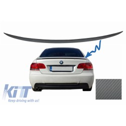 Trunk Boot Lid Spoiler suitable for BMW 3 Series E92 E93 (2006-2012) Coupe Cabrio M3 Design Carbon Film