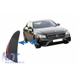 Front Bumper Flaps Side Fins Flics suitable for Mercedes W213 S213 C238 A238 E43 E53 Design Carbon Film Coating