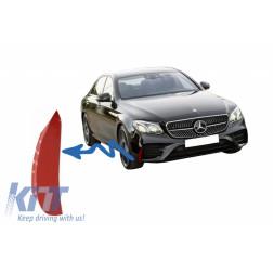 Front Bumper Flaps Side Fins Flics suitable for Mercedes E-Class W213 S213 C238 A238 E43 E53 Design Red