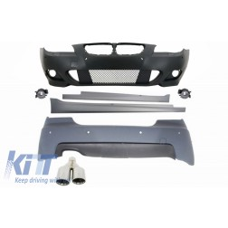 Body Kit M-Technik suitable for BMW E60 5-series (2003-2007) With PDC 24mm + Exhaust Muffler Tips M-Power LEFT