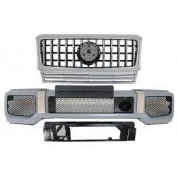 Front Bumper with Silver Grille suitable for MERCEDES G-Class W463 (1989-2017) G63 GT-R Panamericana Design