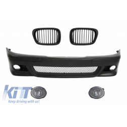 Front Bumper with Central Grilles Black and Fog Lights suitable for BMW E39 5 Series 1995-2003 M5 Design