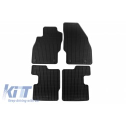 Floor mat Rubber Black suitable for OPEL Corsa D (2006-2014) /  suitable for OPEL Corsa E (2014-)