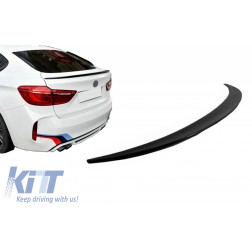 Trunk Boot Spoiler suitable for BMW X6 F16 (2015-Up) Sport Performance Design Piano Black