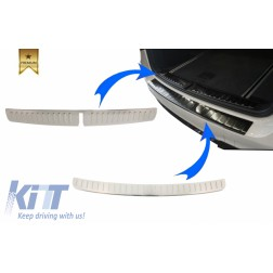 KIT Rear Bumper Protector Sill Plate Foot Plate Aluminum Cover suitable for BMW X3 F25 (2011-2017)