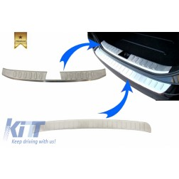 KIT Rear Bumper Protector Sill Plate Foot Plate Aluminum Cover suitable for BMW X1 E84 LCI (2012-2014)