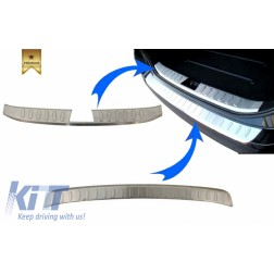 KIT Rear Bumper Protector Sill Plate Foot Plate Aluminum Cover suitable for BMW X1 E84 non LCI (2009-2012)