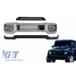 Body Kit Front Bumper Spoiler LED DRL Extension suitable for MERCEDES G-Class W463 (1989-2017) A-Design