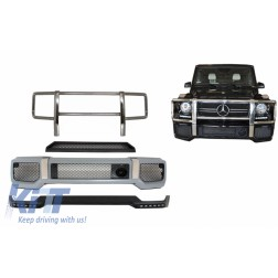 Body Kit Front Bumper with Bullbar Spoiler LED DRL Extension suitable for MERCEDES G-Class W463 (1989-2017) A-Design