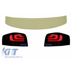 Roof Spoiler suitable for AUDI A3 8P Hatchback (2003-2008) with Full LED Taillights Light Bar Dynamic Sequential Turning Light RS LOOK 3 Doors