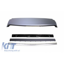 Roof Spoiler with Kit Rear Trunk Tailgate Silver suitable for Range ROVER Sport L320 (2005-2009) Autobiography Design
