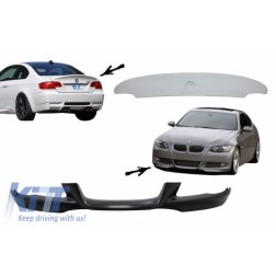 Front Bumper Lip and Rear Trunk Spoiler Lid suitable for BMW 3 Series E92/E93 (2007-2009) Coupe Cabrio M-Tech Sport CLS Design